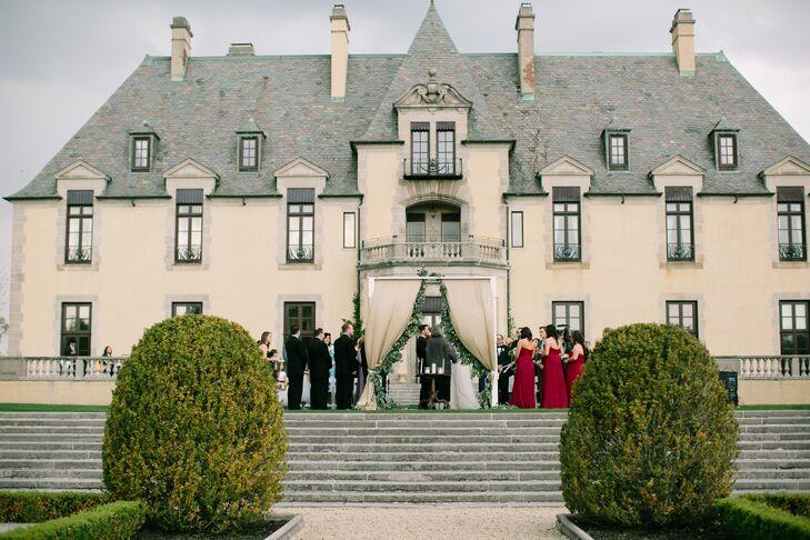 Oheka Castle Garden Wedding Ceremony