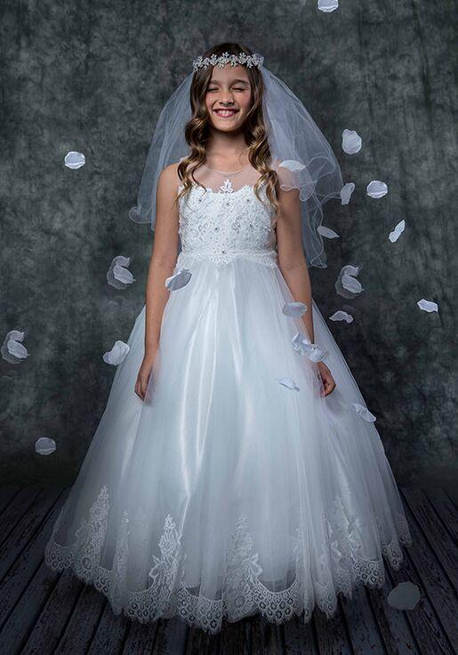 Kid's Dream 7007 White Flower Girl Dress