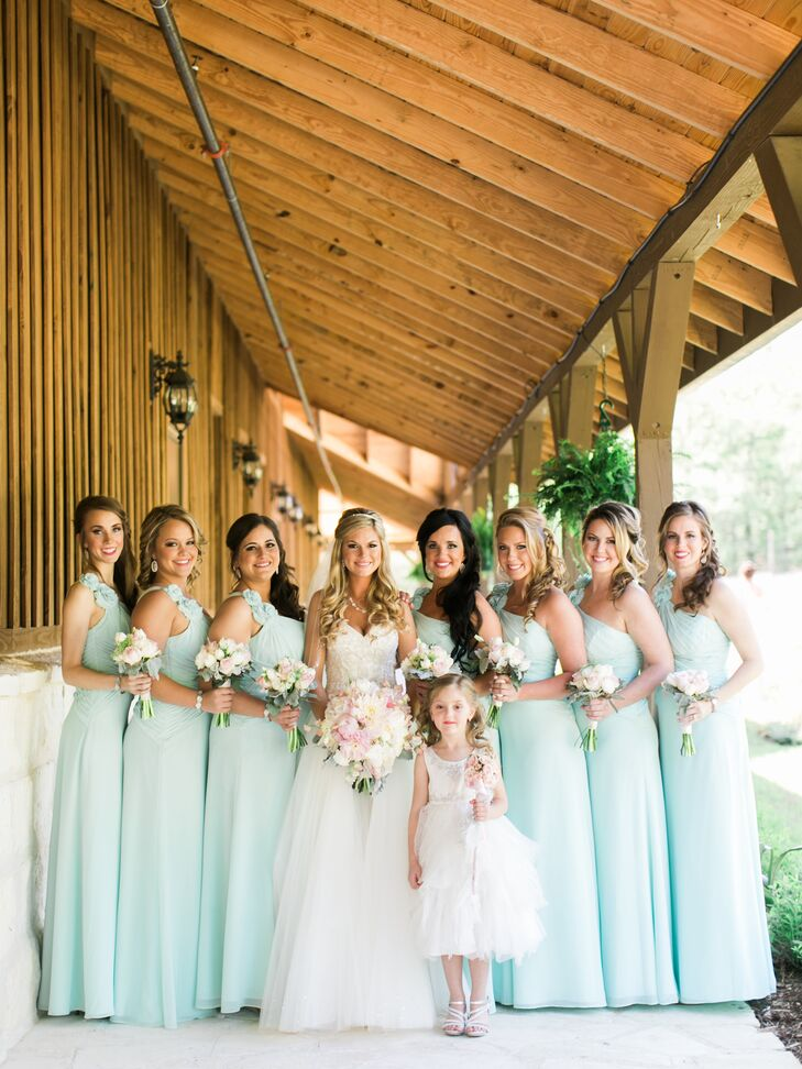 bdd7773a0b Chelsea wore a chic Casablanca ball gown with a tulle skirt and sweetheart  neckline