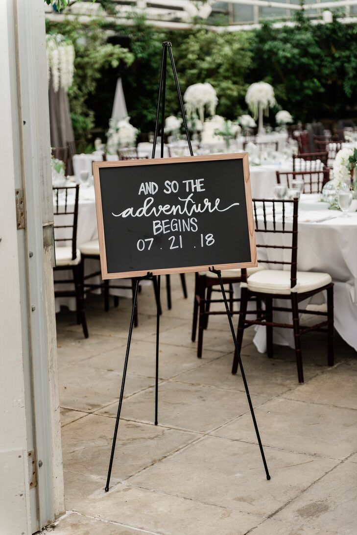 Classic Wedding Signage on Easel