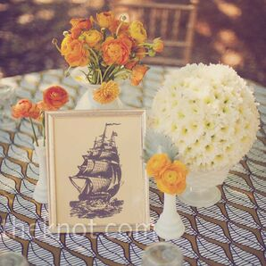 Retro Wedding Centerpieces