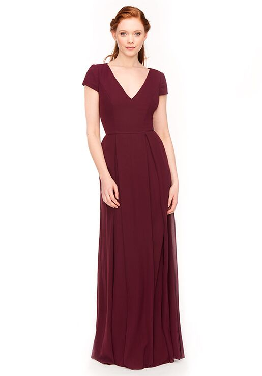 Khloe Jaymes CAYLA V-Neck Bridesmaid Dress