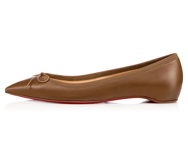 Shop Christian Louboutin S New Nude Flat Collection
