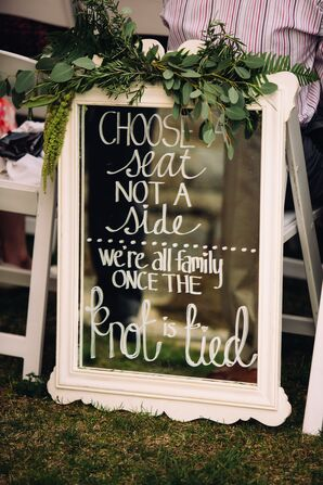 Vintage Mirror Ceremony Sign