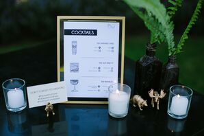 Cocktail Menu for Wedding at Paramour Estate in Los Angeles