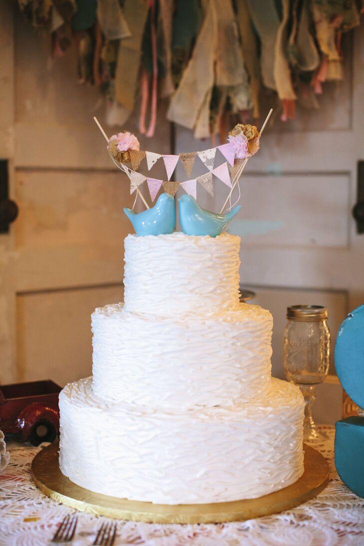 Blue Bird Wedding Cake Toppers