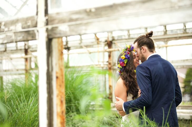 High Updo Groom's Wedding Hairstyle