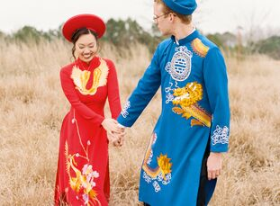 Vimy and Andrew tied the knot in Raleigh, North Carolina, but the inspiration for their wedding was global. Vietnamese, Swedish and American elements