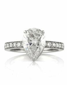 Mark Broumand Elegant Pear Cut Engagement Ring