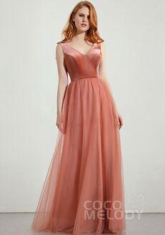 CocoMelody Bridesmaid Dresses RB0291 V-Neck Bridesmaid Dress
