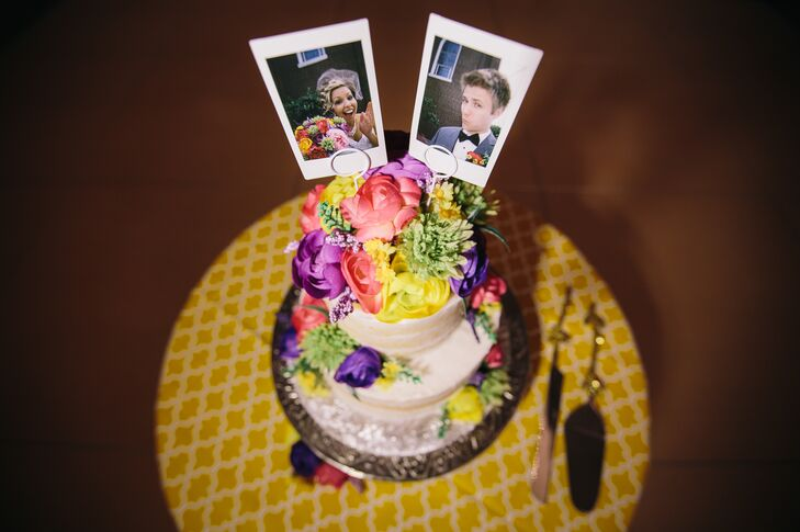 Polaroid Photo Cake Topper