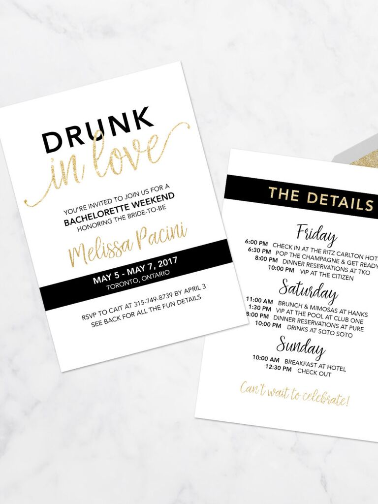 Printable Bachelorette Party Invitation Templates - Party invitation template: club party invitation template