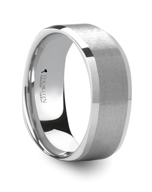 Mens Tungsten Wedding Bands W674-SQWT Tungsten Wedding Ring