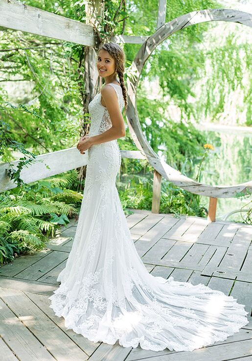Lillian West 66004 Sheath Wedding Dress