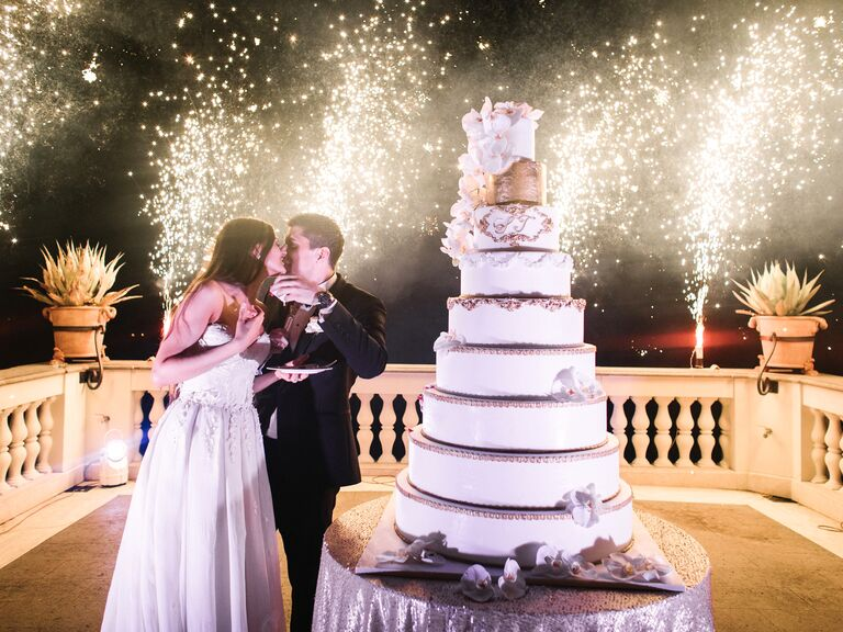 Luxe Nine-Layer Cake - over-the-top wedding ideas