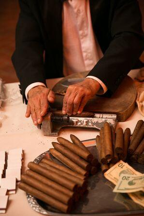 Hand-Rolled Cigars at Ellis Island Wedding Reception