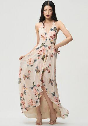 Jenny Yoo Collection (Maids) Farrah Print V-Neck Bridesmaid Dress