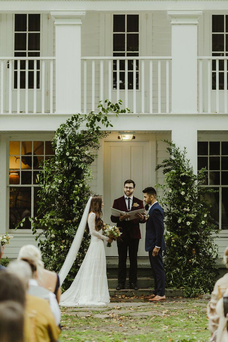 Wedding Ceremony at Zingerman's Cornman Farms in Dexter, Michigan