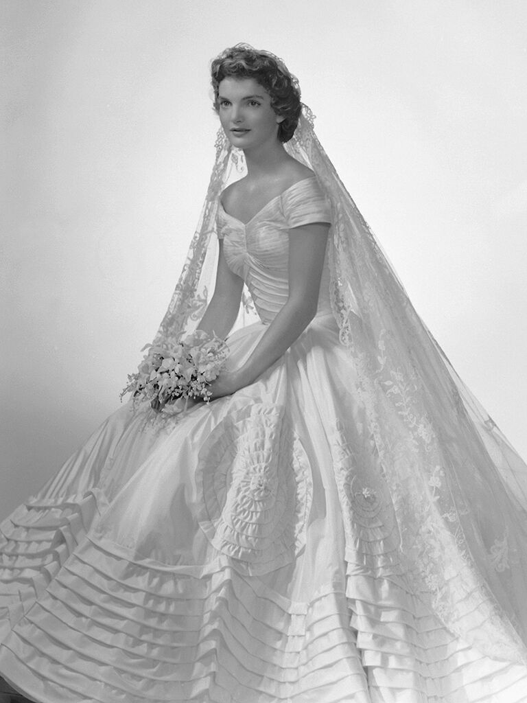 Jackie O's iconic wedding dress