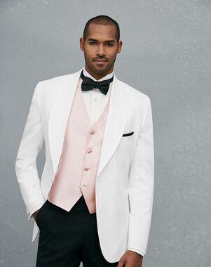 Jos A Bank One On Shawl Lapel Dinner Jacket White Tuxedo