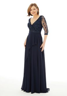 MGNY 72208 Blue,Red,Brown Mother Of The Bride Dress
