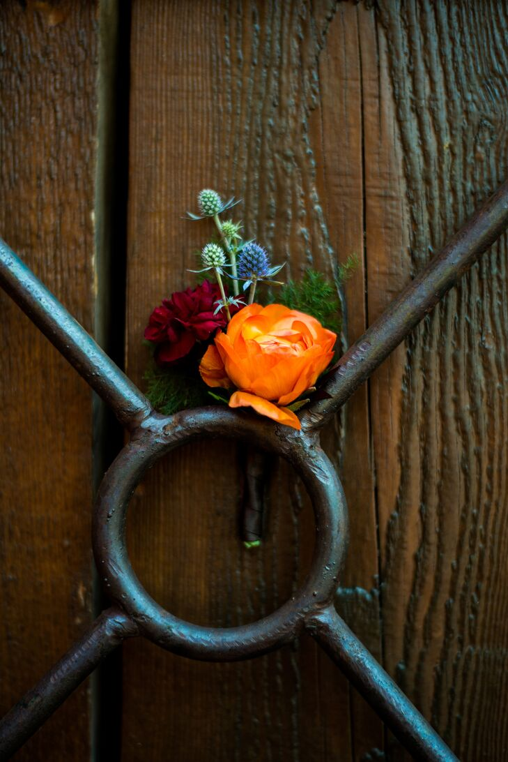 Fall-Inspired Boutonniere in Arizona