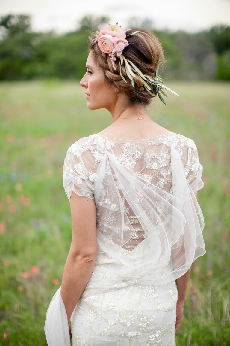 Flower Crown Wedding Hairstyles for Brides and Flower Girls 937ff8a9055