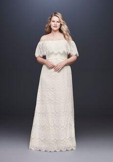 David's Bridal Galina Style 9WG3892 Sheath Wedding Dress