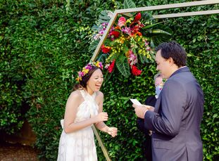 """Before the COVID-19 pandemic hit, Bettina and Andrew were, """"supposed to get married at the Estancia La Jolla Hotel & Spa in San Diego on September 4th"""