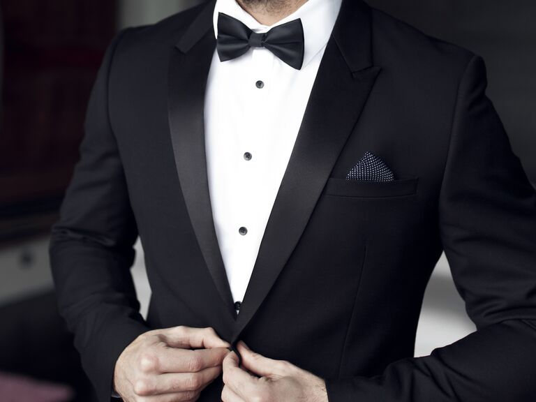 man in tux ready for his wedding