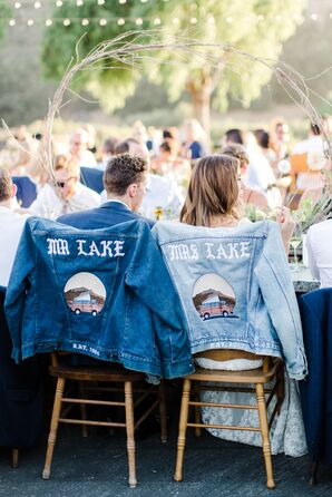 Matching, Personalized Mr. and Mrs. Denim Jackets