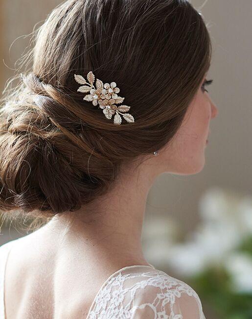 Dareth Colburn Hannah Floral Hair Pin (TP-2839) Gold, Silver Pins, Combs + Clip