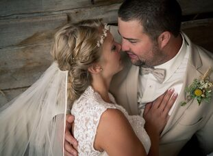 Karen Karelsen (25, a Recreation Therapist) and Chris Griffin (25, a Millwright) decided to hold their wedding at their old barn at their property in