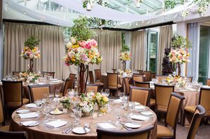 Ethereal Garden-Inspired Reception Centerpieces