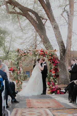 Fuchsia Peony, Tulip and Rose Wedding Arch