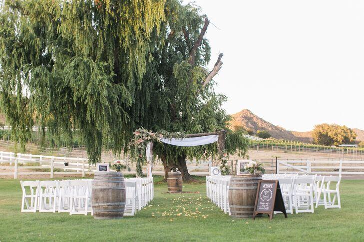 Rustic Saddlerock Ranch Ceremony