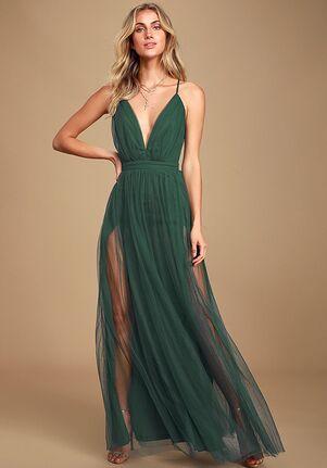 Lulus Rare Beauty Hunter Green Backless Maxi Dress V-Neck Bridesmaid Dress