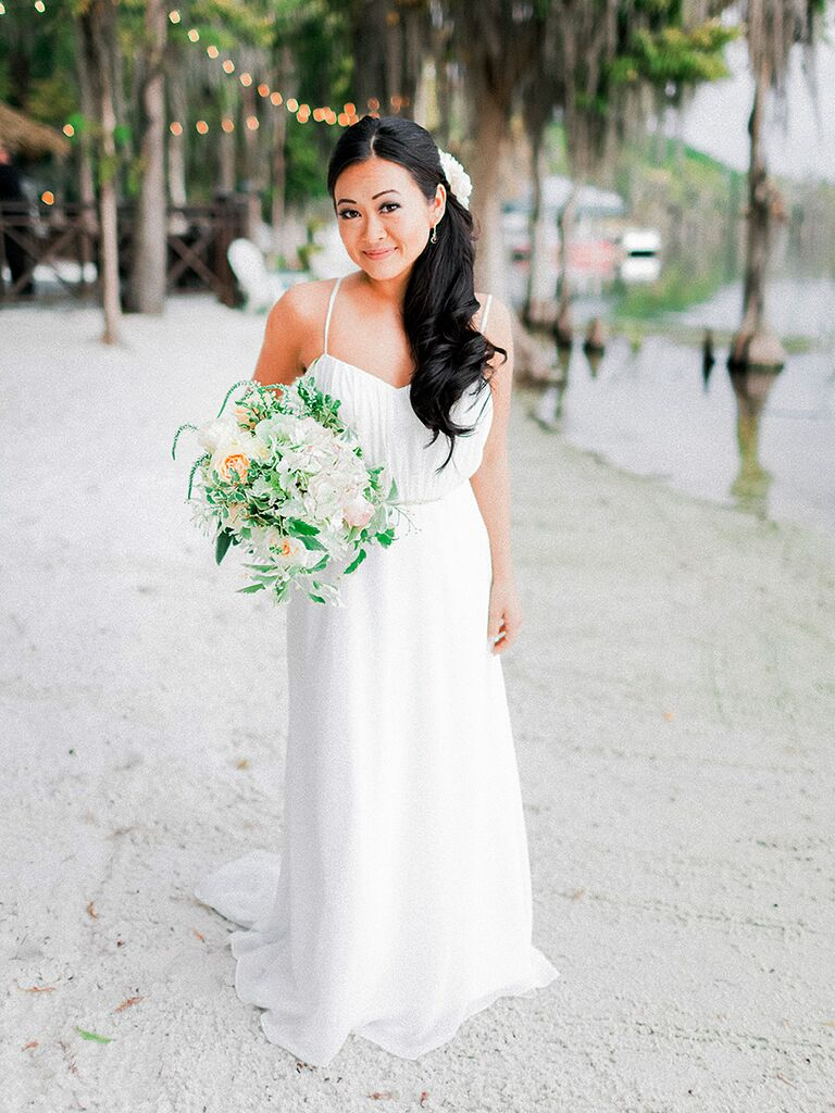 Custom made beach wedding gown
