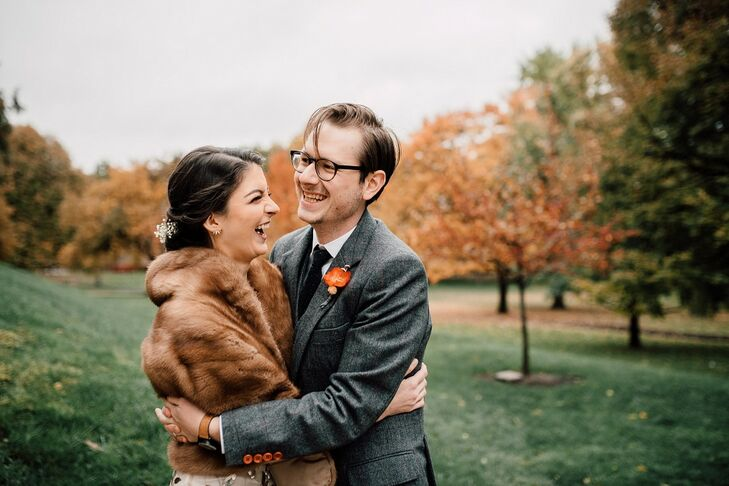 Maeve and Zach applied for a self-uniting marriage license, and in November 2017, they had a small ceremony in their home followed by a Greek Orthodox