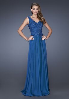 La Femme Evening 19385 Blue Mother Of The Bride Dress