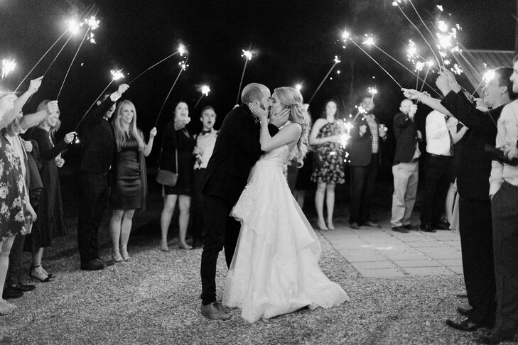 Sparkler Exit at the Flying V Ranch in Decatur, Texas