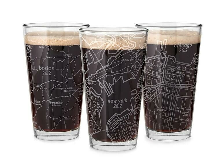 Marathon map glass gift for son-in-law