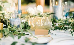 Calligraphed Acrylic Table Names
