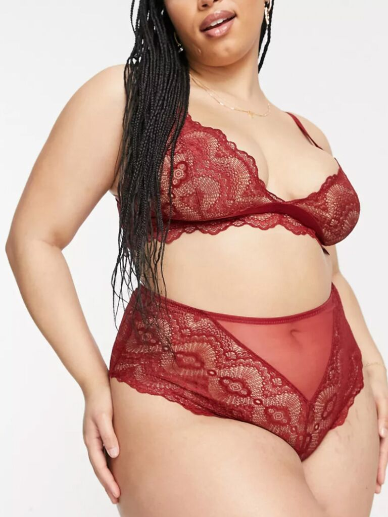ASOS red lace lingerie