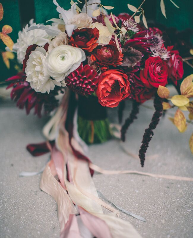 Best Wedding Party Entrance Songs: Inspiration Of The Day: A Burgundy Forsythia Bouquet
