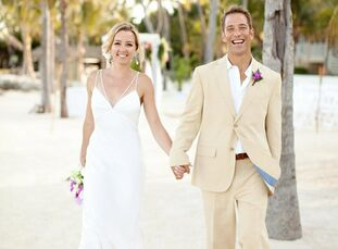 The Bride Megan Dunne, 36, a private yoga instructor The Groom Joe Krouse, 40, the owner of New World Sight & Sound The Date May 30  Megan and Joe pla