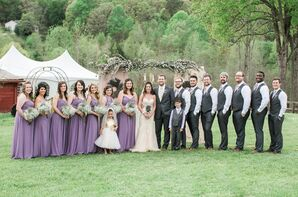 Lavender and Gray Wedding Party