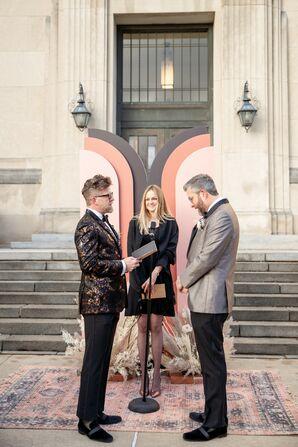Wedding Ceremony at the Everhart Museum in Scranton, Pennsylvania