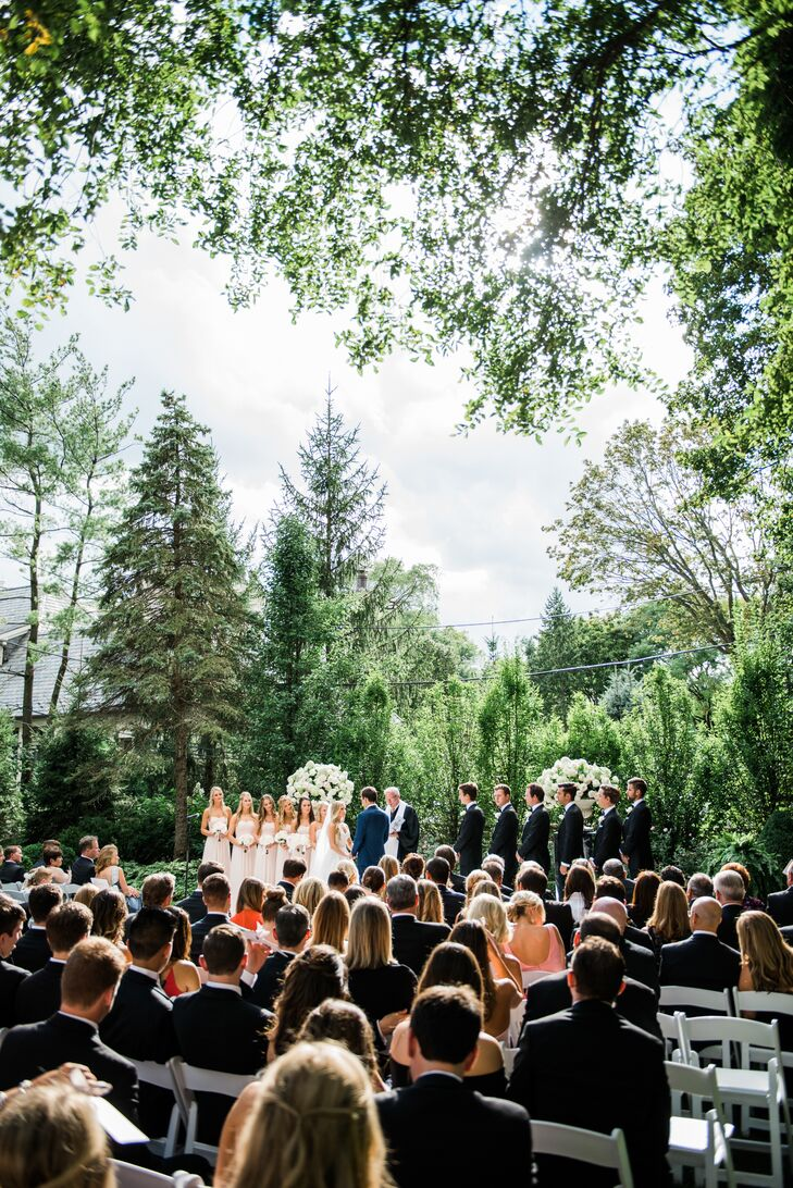 Verdant Backyard Ceremony