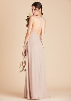 Birdy Grey Moni Convertible Dress in Taupe Halter Bridesmaid Dress